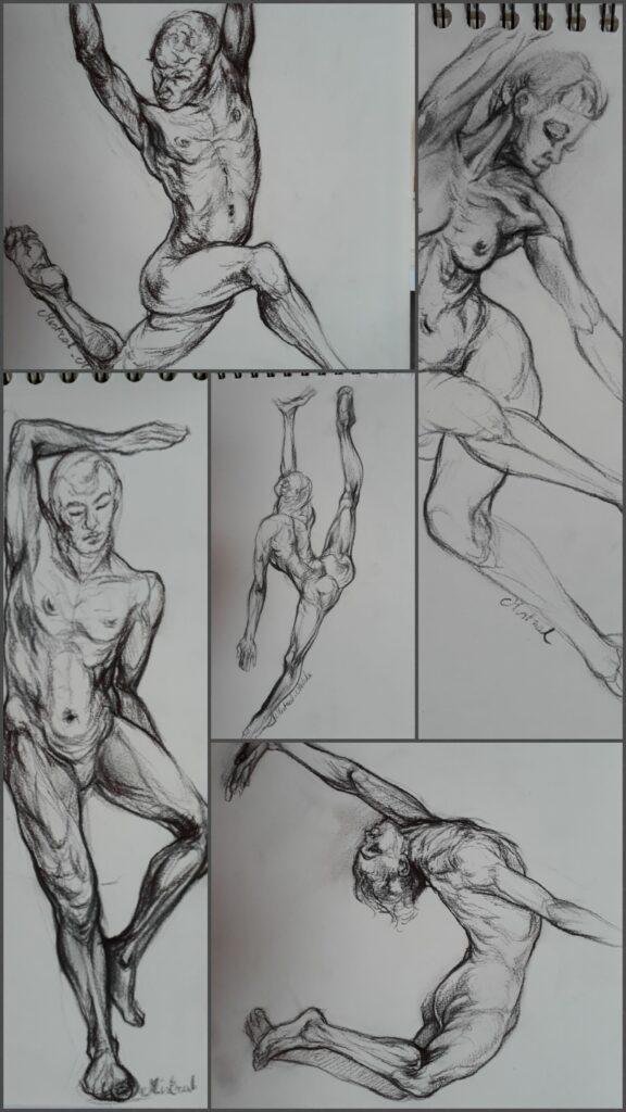 Schetsen collage